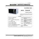 Sharp R-842SLM Service Manual