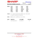 Sharp R-84ST (serv.man9) Technical Bulletin