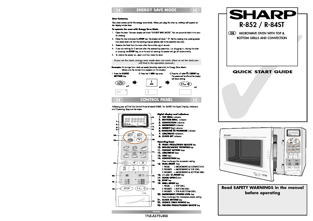 Sharp R 84st Handy Guide View Online Or Download Repair Manual Control Panel Circuit Diagram And Parts List For Microwaveparts