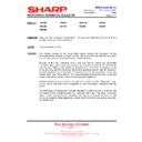 Sharp R-852 (serv.man4) Technical Bulletin