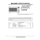 Sharp R-85STM Service Manual