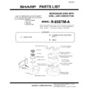 Sharp R-85STMA (serv.man14) Parts Guide