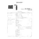 Sharp R-8680 Service Manual