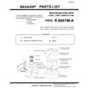 Sharp R-86STMA (serv.man14) Parts Guide