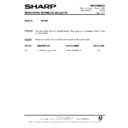 Sharp R-870AM (serv.man8) Technical Bulletin