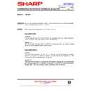 Sharp R-8720M (serv.man13) Technical Bulletin