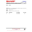 Sharp R-8720M (serv.man15) Technical Bulletin