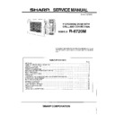 Sharp R-8720M Service Manual