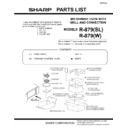 Sharp R-879W (serv.man13) Parts Guide