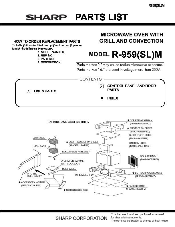 R 959slm Serv Man11 Parts Guide