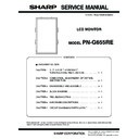 Sharp PN-G655RE (serv.man3) Service Manual