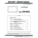 Sharp PN-S525 (serv.man3) Service Manual