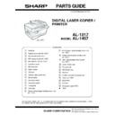 Sharp AL-1217 (serv.man20) Parts Guide