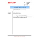 Sharp AL-1217 (serv.man45) Technical Bulletin
