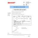 Sharp AL-1217 (serv.man48) Technical Bulletin