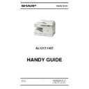 Sharp AL-1217 Handy Guide