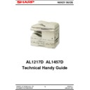 Sharp AL-1217D Handy Guide
