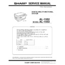 Sharp AL-1553 (serv.man8) Parts Guide