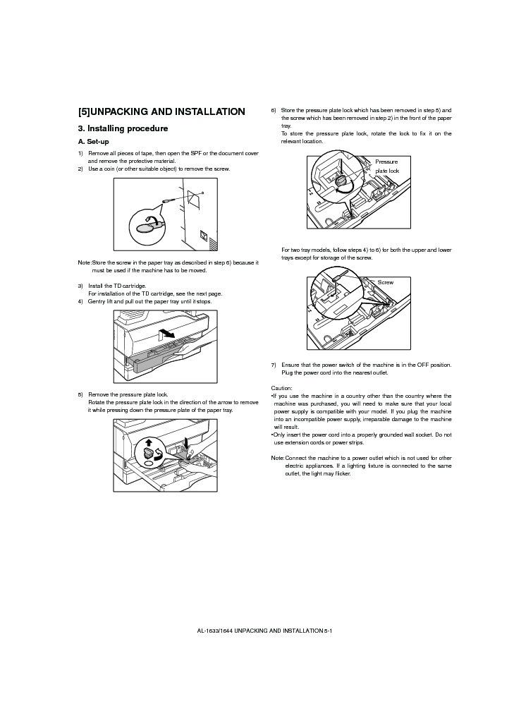 Sharp al 1644 servn10 service manual view online or download al 1644 servn10 service manual publicscrutiny Choice Image