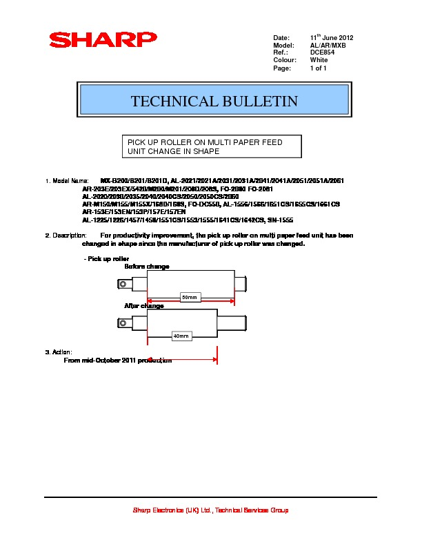 sharp al 800 serv man26 technical bulletin view online or rh servlib com Sharp ER-A170 Microwave Oven Sharp R 308J