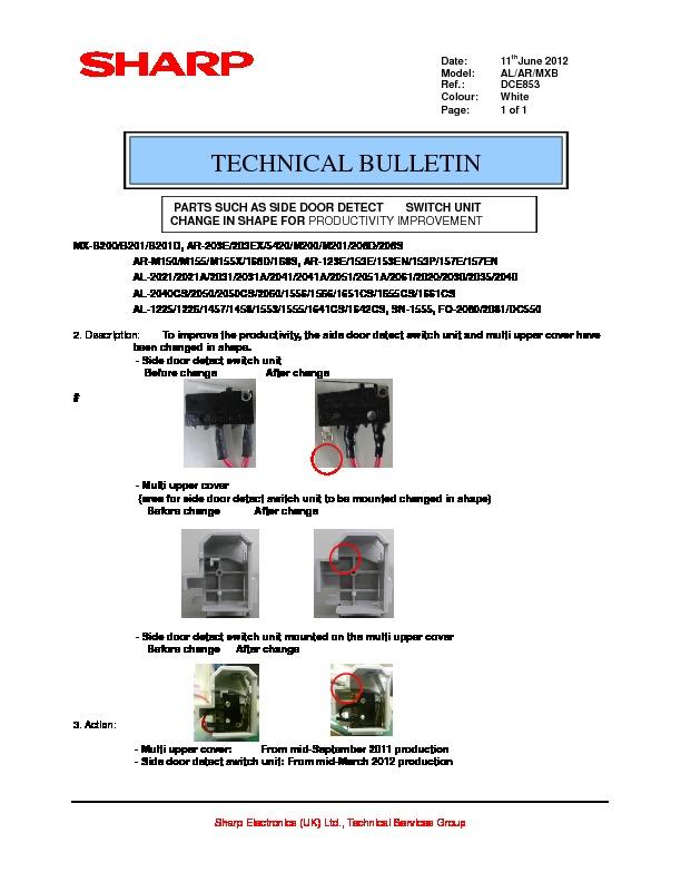 sharp al 800 specification parts such as side door detect switch rh servlib com Sharp Compet QS-2760H Sharp View Cam Cameras
