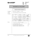 Sharp AR-161 (serv.man139) Technical Bulletin