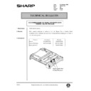 Sharp AR-161 (serv.man153) Technical Bulletin