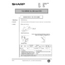 Sharp AR-161 (serv.man155) Technical Bulletin