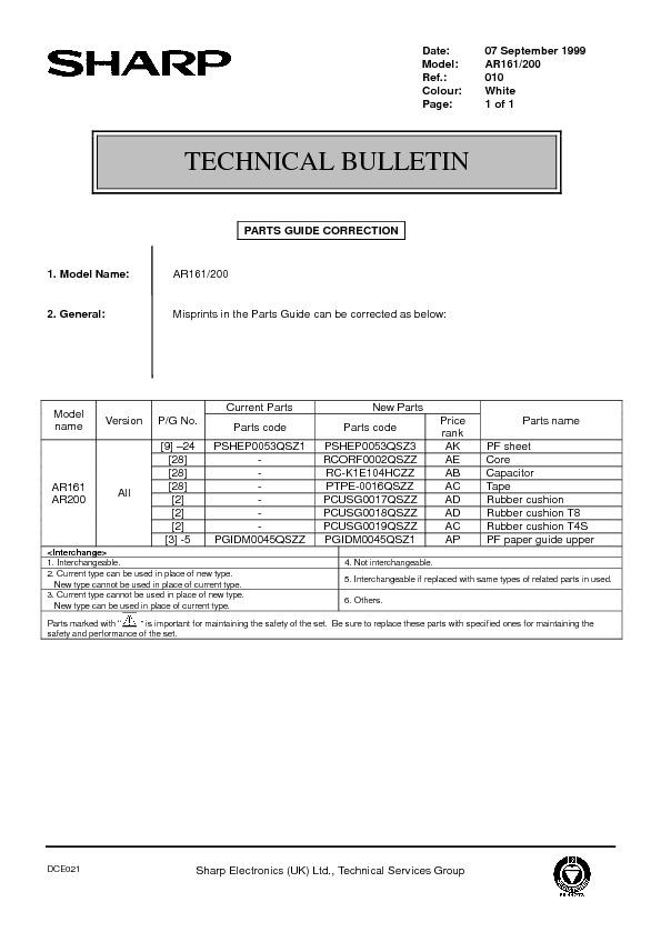 sharp printer service manuals page 97 rh servlib com Sharp AR- M355N sharp ar-161 manual