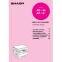 Sharp AR-161 (serv.man21) User Guide / Operation Manual