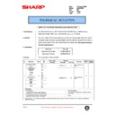 Sharp AR-200 (serv.man106) Technical Bulletin
