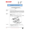 Sharp AR-200 (serv.man110) Technical Bulletin