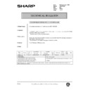 Sharp AR-200 (serv.man157) Technical Bulletin