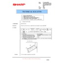 Sharp AR-200 (serv.man34) Technical Bulletin