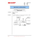 Sharp AR-200 (serv.man63) Technical Bulletin