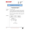 Sharp AR-200 (serv.man93) Technical Bulletin