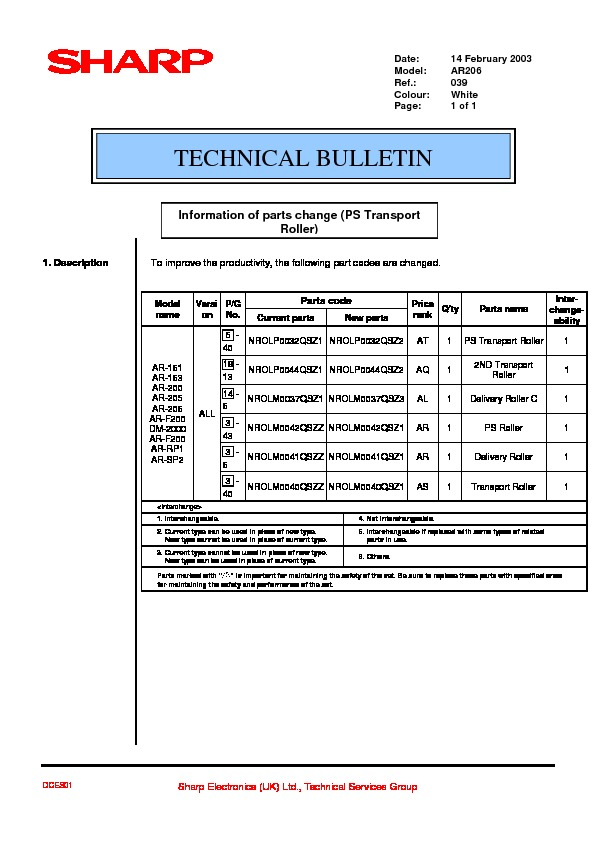 sharp ar 206 serv man60 technical bulletin view online or rh servlib com Sharps AR- 15 sharp ar-161 manual