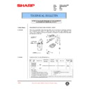 Sharp AR-285 (serv.man100) Technical Bulletin