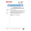 Sharp AR-285 (serv.man110) Technical Bulletin