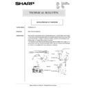 Sharp AR-285 (serv.man150) Technical Bulletin