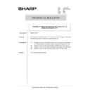 Sharp AR-285 (serv.man166) Technical Bulletin