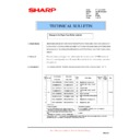 Sharp AR-285 (serv.man47) Technical Bulletin