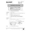 Sharp AR-405 (serv.man116) Technical Bulletin