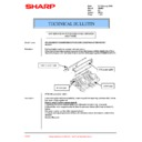Sharp AR-405 (serv.man47) Technical Bulletin