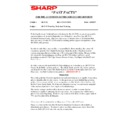 Sharp AR-5132 (serv.man122) Technical Bulletin