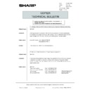 Sharp AR-5132 (serv.man132) Technical Bulletin