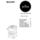 Sharp AR-5132 (serv.man52) User Guide / Operation Manual