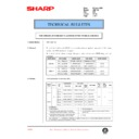 Sharp AR-5132 (serv.man61) Technical Bulletin