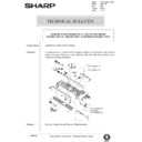 Sharp AR-5132 (serv.man64) Technical Bulletin