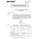Sharp AR-5132 (serv.man83) Technical Bulletin